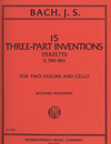 International Music Company Bach, J.S.: 15 Three-Part Inventions-Terzetti (2 violins & cello)