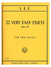 International Music Company Lee: 22 Very Easy Duets, Op.126 (2 Cellos)