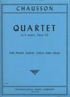 International Music Company Chausson, Ernest: Quartet in A major, Op.30 (violin, viola, cello, piano)