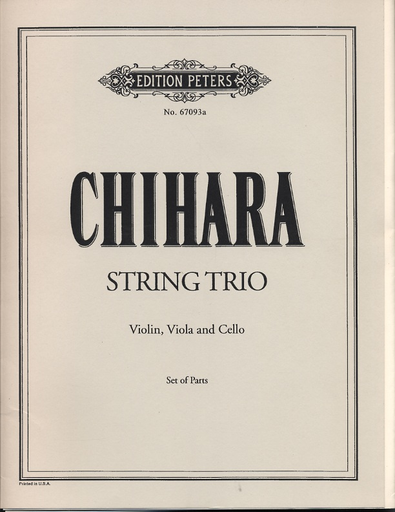Chihara, Paul: String Trio (violin, viola, cello) set of parts