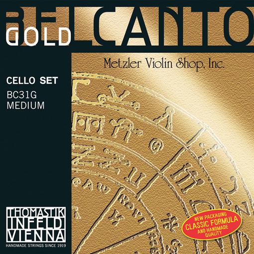Thomastik-Infeld BELCANTO Gold cello string set, medium, by Thomastik-Infeld
