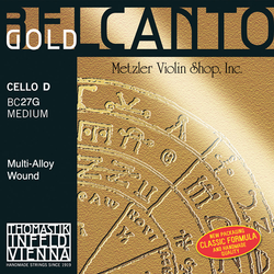Thomastik-Infeld BELCANTO Gold cello D string, medium, by Thomastik-Infeld