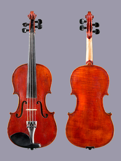 French French 3/4 Strad 1721 violin outfit, ca 1910