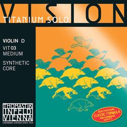 Thomastik-Infeld VISION Titanium Solo violin D string, silver wound, medium, by Thomastik-Infeld