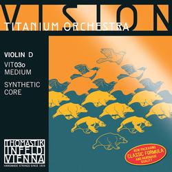 Thomastik-Infeld VISION Titanium Orchestra violin D string, silver wound, medium, by Thomastik-Infeld