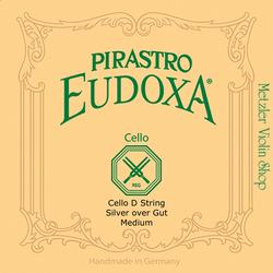 Pirastro Pirastro EUDOXA cello D string, silver/aluminum on gut
