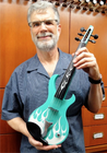 Wood Violins KATANA SABRE 5-string BEL-AIRE custom finish semi hollow-body Wood Violins, USA