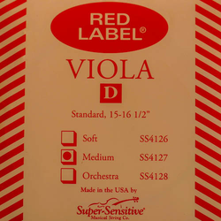 Super-Sensitive Red Label viola D string