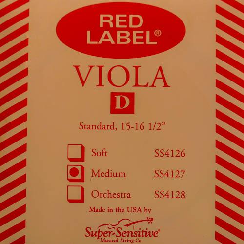 Super-Sensitive Red Label viola D string
