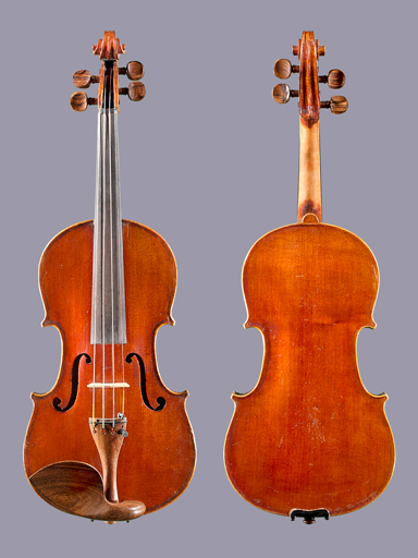 French (Awaiting repair) MEDIO FINO 3/4 French violin outft, ca 1900