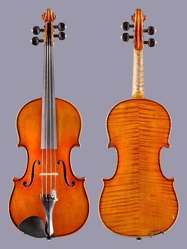 French Joseph Guarini (Mennesson) 1876 label 4/4 violin