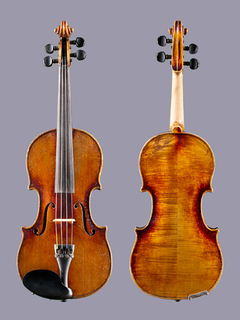 3/4 German Stradivarius copy violin outfit