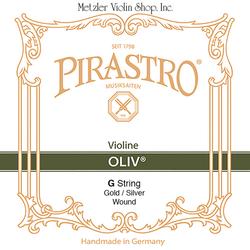 Pirastro Pirastro OLIV violin G string, gut/gold-silver packaged 15 3/4
