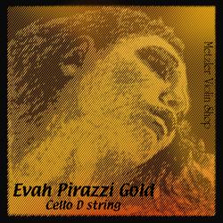 Pirastro Pirastro EVAH PIRAZZI GOLD cello D string, medium, chrome steel on steel