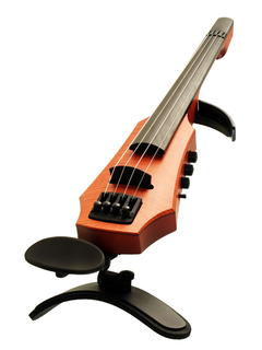 NS Design NS Design CR4 electric 4-string violin, amber-brown, with case. Czech Republic