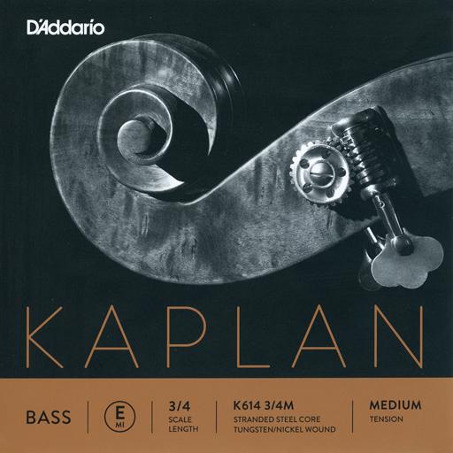 D'Addario D'Addario Kaplan 3/4 titanium bass E string, medium