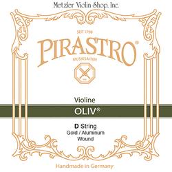 Pirastro Pirastro OLIV violin D string rigid gut gold/aluminum, straight in tube