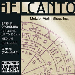 Thomastik-Infeld BELCANTO chrome-wound Bass extended E string (C), 3/4 orchestra, by Thomastik-Infeld