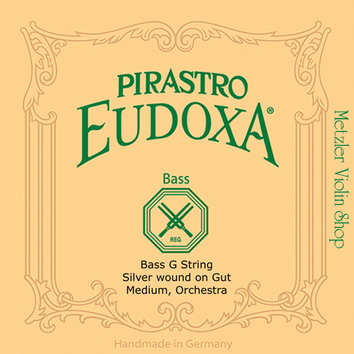 Pirastro Pirastro EUDOXA bass G string, silver wound on gut