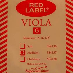 Super-Sensitive Red Label viola G string