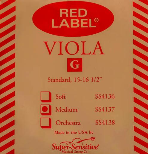 Super-Sensitive Red Label viola G string