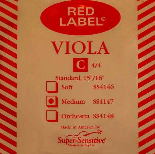 Super-Sensitive Red Label viola C string