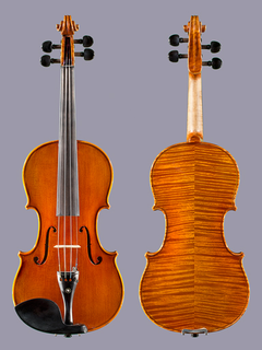Highly flamed 4/4 violin, unlabeled