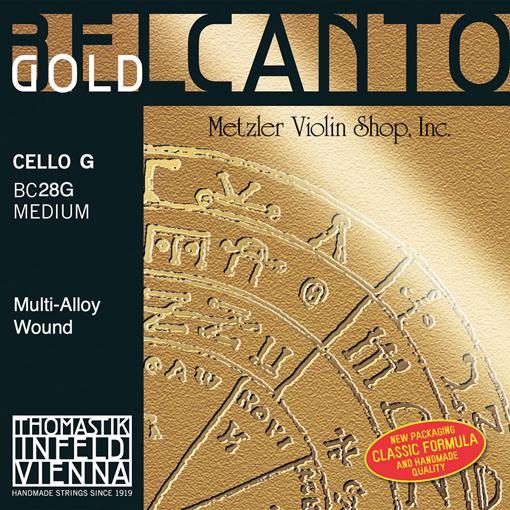 Thomastik-Infeld BELCANTO Gold cello G string, medium, by Thomastik-Infeld