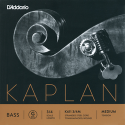 D'Addario D'Addario Kaplan 3/4 titanium bass G string, medium