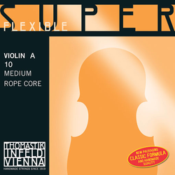 Thomastik-Infeld Superflexible violin A string, chrome wound over steel core, by Thomastik-Infeld