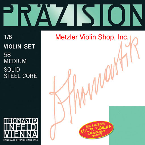 Thomastik-Infeld PRECISION STEEL (Präzision) violin string set, all sizes, by Thomastik-Infeld