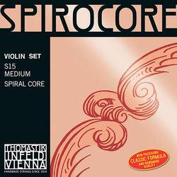 Thomastik-Infeld SPIROCORE violin string set, steel core, aluminum & chrome-wound, by Thomastik-Infeld