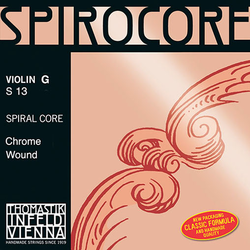Thomastik-Infeld SPIROCORE violin G string, steel core, chrome-wound, by Thomastik-Infeld