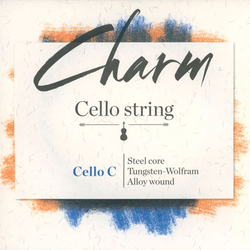 For-tune Charm cello steel C string, by For-tune, medium,