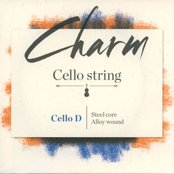 For-tune Charm cello steel D string, by For-tune, medium,