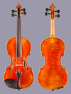 Ignaz Lutz 4/4 violin, 1921 San Francisco, Number 136
