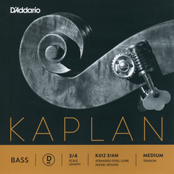 D'Addario D'Addario Kaplan 3/4 nickel bass D string, medium