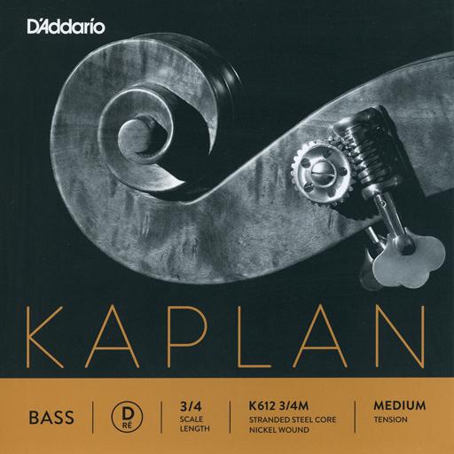 D'Addario D'Addario Kaplan 3/4 nickel bass D string, medium