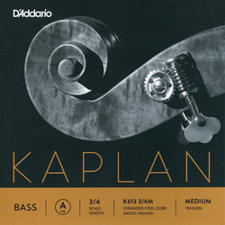 D'Addario D'Addario Kaplan 3/4 nickel bass A string, medium