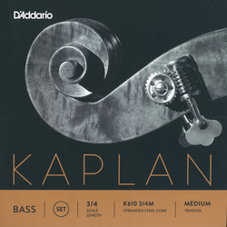 D'Addario D'Addario Kaplan 3/4 bass string set, medium