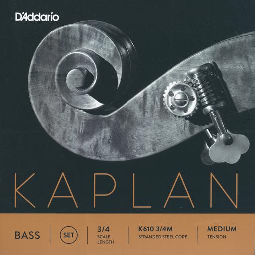 D'Addario D'Addario Kaplan 3/4 bass string set, medium