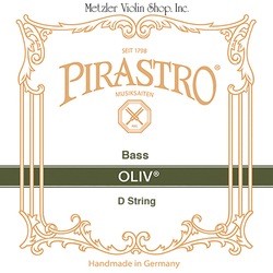 Pirastro Pirastro OLIV bass D string, 3/4, gut/chrome steel, orchestra tuning