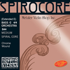 Thomastik-Infeld SPIROCORE chrome-wound Bass C string (extended E), 4/4 orchestra, by Thomastik-Infeld