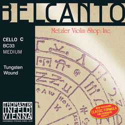 Thomastik-Infeld BELCANTO cello C string, tungsten wound, medium, by Thomastik-Infeld
