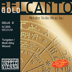 Thomastik-Infeld BELCANTO Gold cello C string, medium, by Thomastik-Infeld