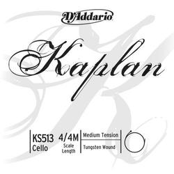 D'Addario D'Addario KAPLAN 4/4 cello nickel D string, medium