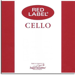 Super-Sensitive Red Label cello D string 1/8