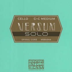 Thomastik-Infeld VERSUM Solo G & C cello string set, 4/4 medium, by Thomastik-Infeld, AUSTRIA
