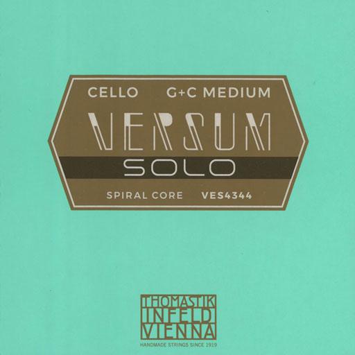 Thomastik-Infeld VERSUM Solo G & C cello string set, 4/4 medium, by Thomastik-Infeld, AUSTRIA