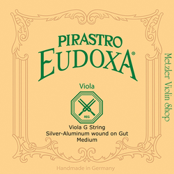 Pirastro Pirastro EUDOXA viola G string, silver/gut, in envelope, medium